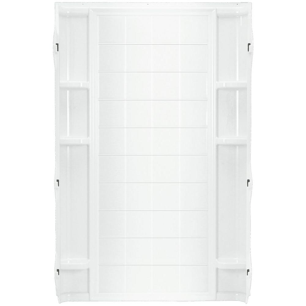 Ensemble 36 in. x 72-1/2 in. 1-Piece Direct-to-Stud Shower Back Wall