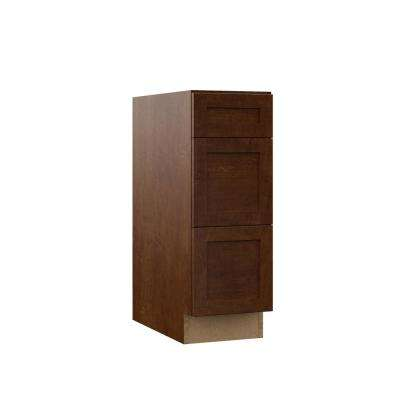 Soleste Assembled 12x34.5x23.75 in. Drawer Base Kitchen Cabinet in Spice