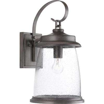 Conover Collection 1-Light Antique Pewter Outdoor Wall Mount Lantern