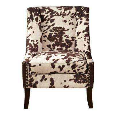 Chocolate Brown Hair-On-Hyde Accent Chair