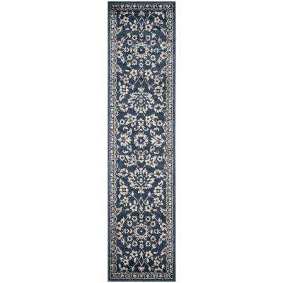 Carolina Dark Blue 2 ft. x 8 ft. Runner Rug