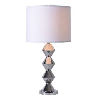 Chrome kenroy home table lamps lamps the home depot chrome table lamp mozeypictures Image collections