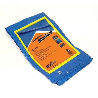 8 ft. x 10 ft. All Purpose Blue Tarp (2-Pack)