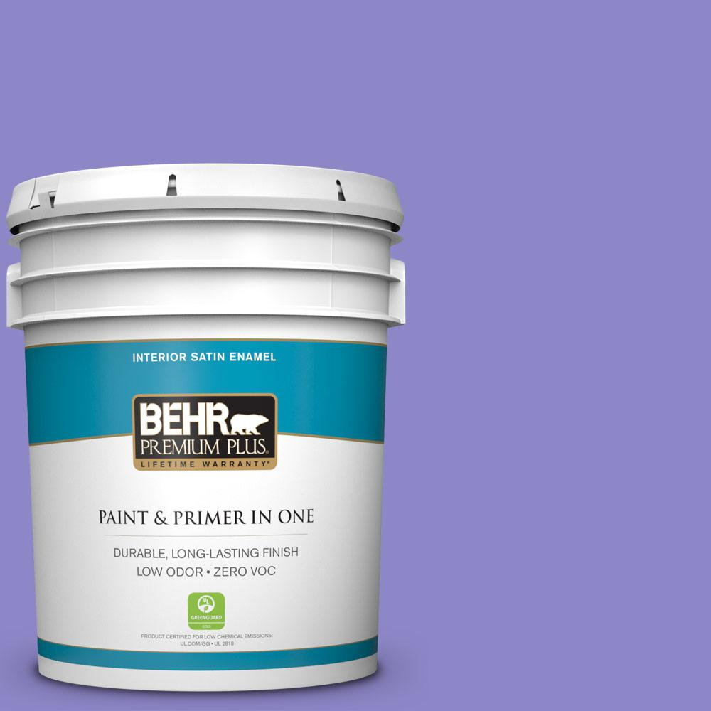 5 gal. #MQ4-29 Brocade Satin Enamel Zero VOC Interior Paint and