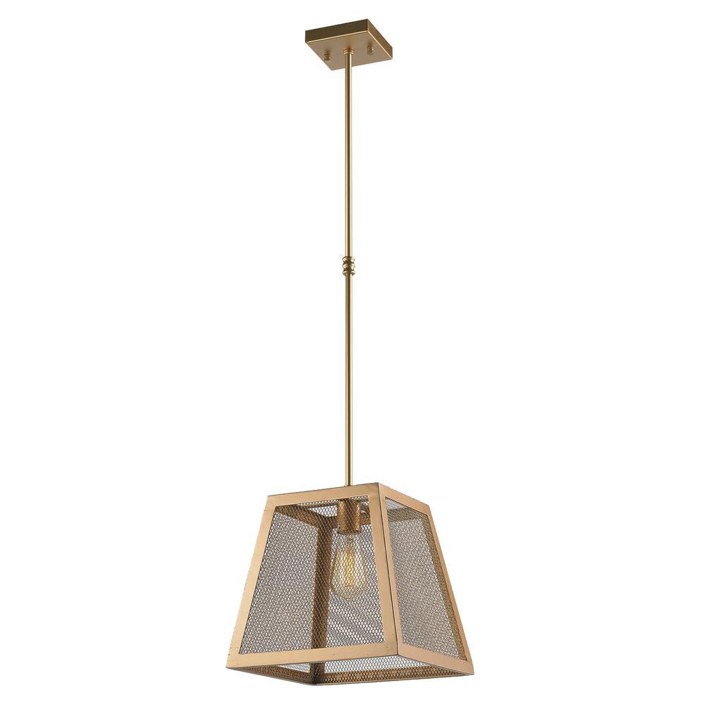 Worldwide Lighting Nautilus 1-Light Matte Gold Pendant