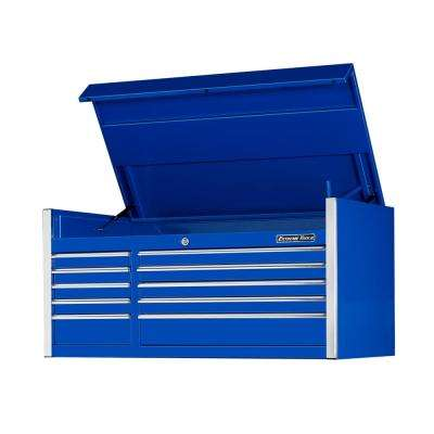 EX Professional Series 55 in. 10-Drawer Top Chest, Blue