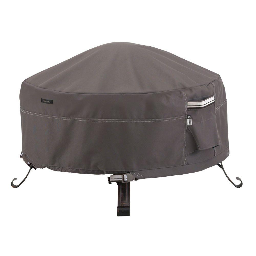 Classic Accessories Ravenna 36 In Round Full Coverage Fire Pit Cover