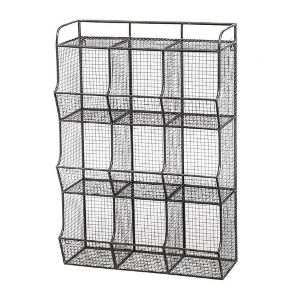 Wire Mesh 9-Bin Cubical Storage