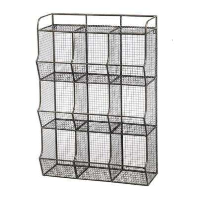 Wire Mesh 9-Bin Cubical Storage