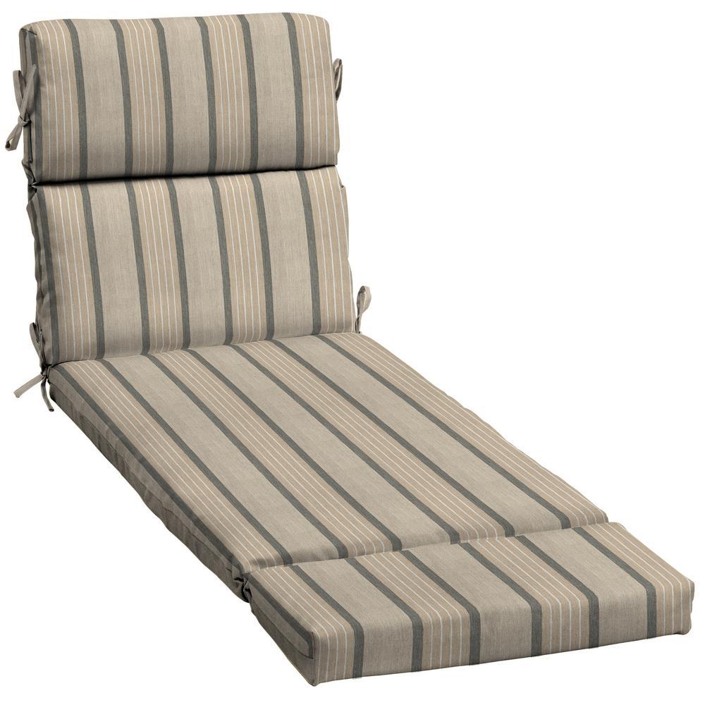 23 x 73 Sunbrella Cove Pebble Outdoor Chaise Lounge Cushion