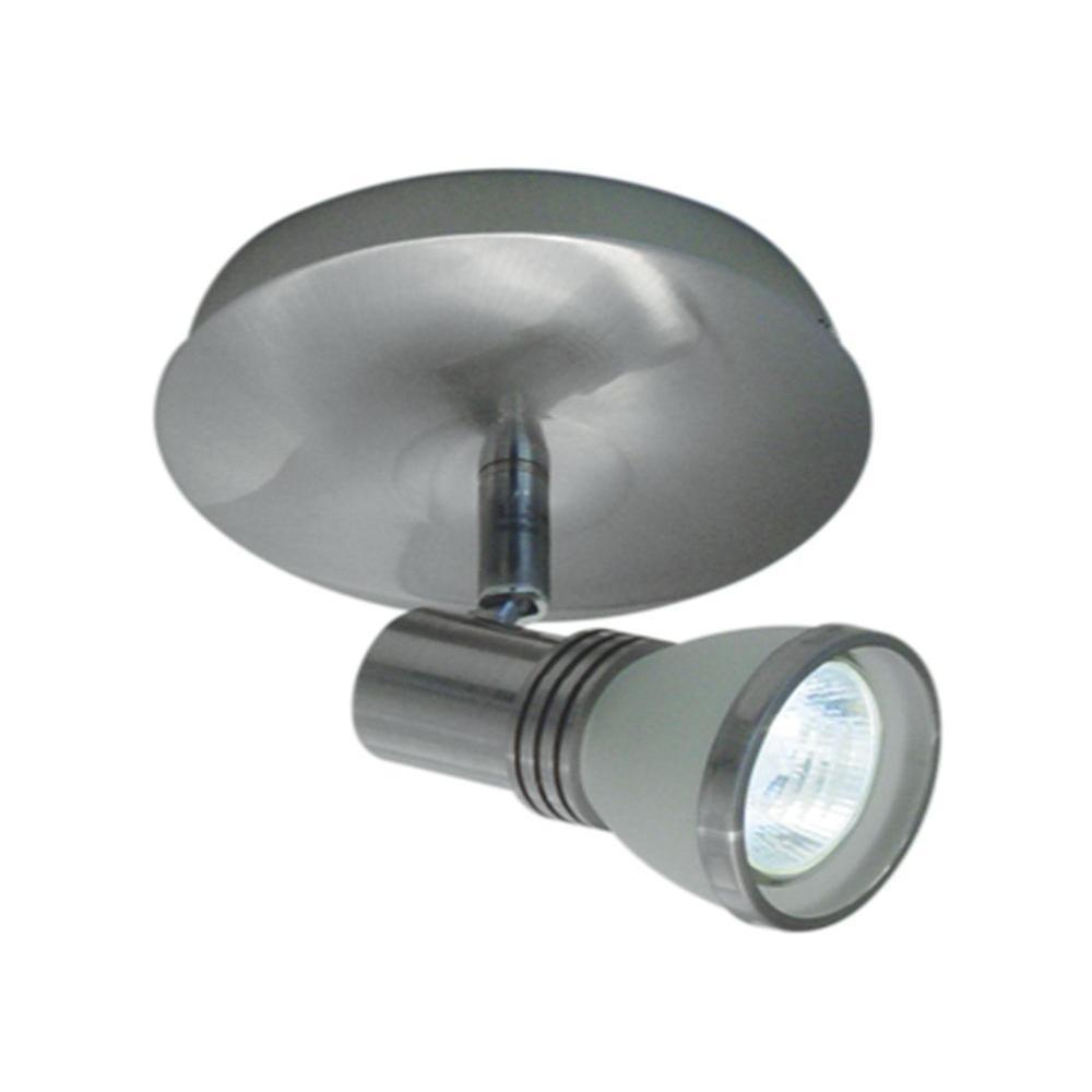 Halogen Ceiling Lights For Bathrooms: BAZZ 1-Light Accent Brushed Chrome Halogen Ceiling Fixture