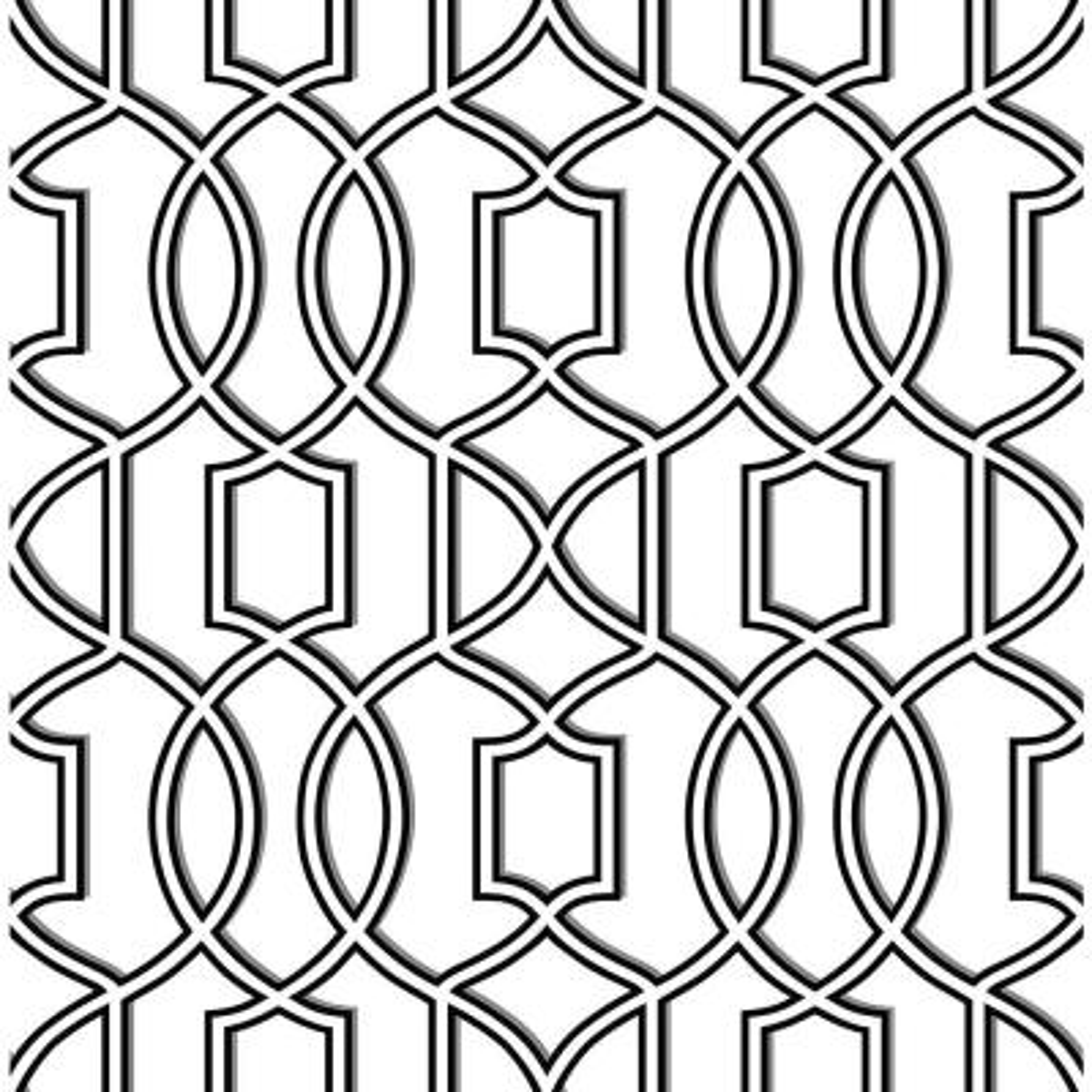 Quantum Black Trellis Wallpaper