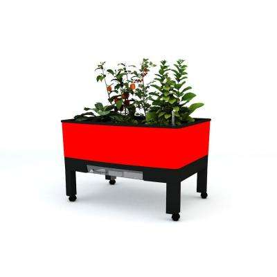 World Garden 33.5 in. x 24.25 in. x 23 in. Red In/Outdoor Self Watering Garden