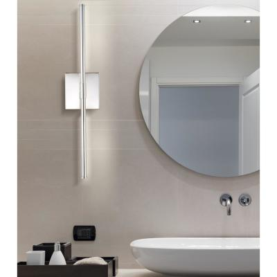 Makena 28 in. Chrome Dimmable Integrated LED Metal Wall Sconce