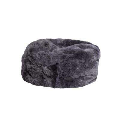Icelandic Grey Brisa 31 in. x 31 in. Short-Hair Sheepskin Bean Bag