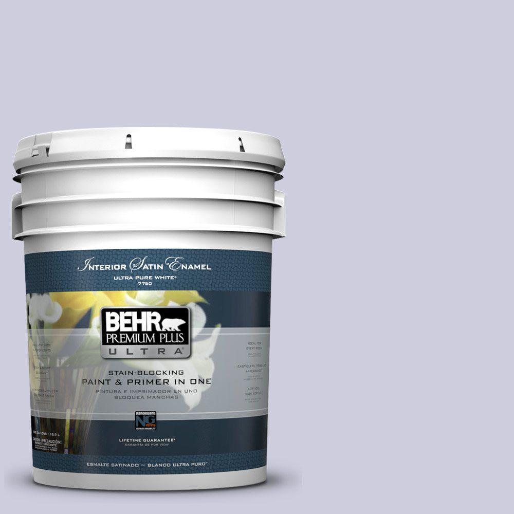 BEHR Premium Plus Ultra 5-gal. #640C-2 Lavender Sparkle Satin Enamel Interior Paint