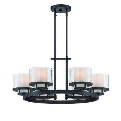 Fusion 6-Light Biscayne Bronze Interior Incandescent Chandelier