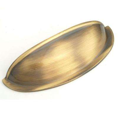 3 in. Antique Brass Cup Pull