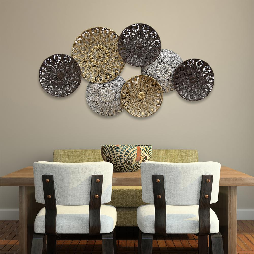 Boho Metal Plates Wall Decor