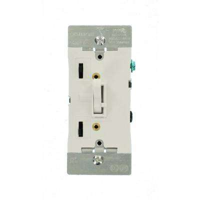 300-Watt Dimmable LED/CFL 600-Watt Incandescent and Halogen Toggle Slide Universal Dimmer, White