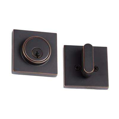 Modern Vintage Bronze Square Single Cylinder Deadbolts