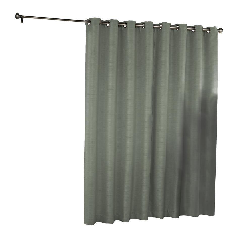 Eclipse Bryson Blackout Patio Door Window Panel in Celadon - 100 in. W x 84 in. L