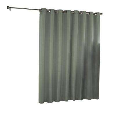 Bryson Blackout Patio Door Window Panel in Celadon - 100 in. W x 84 in. L