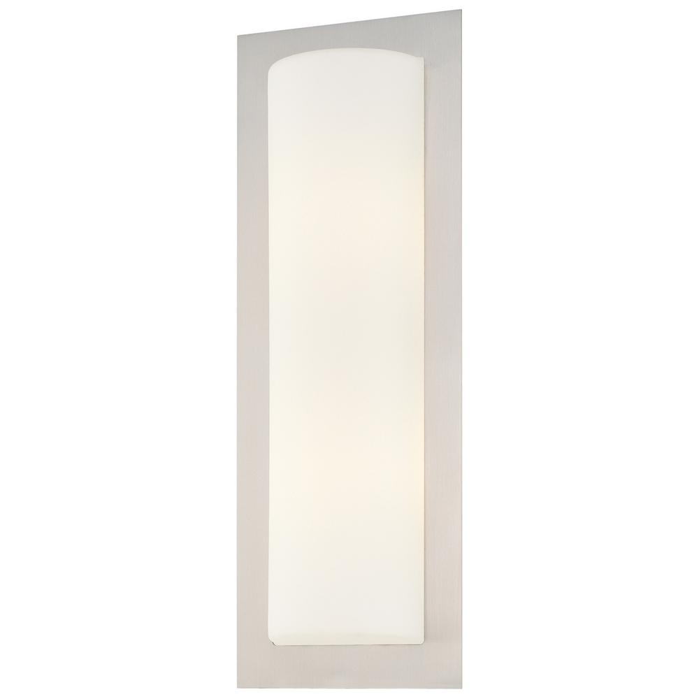 2-Light Brushed Stainless Steel Wall Sconce