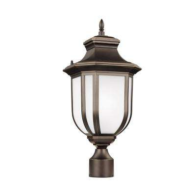 Childress 1-Light Antique Bronze Post Lantern