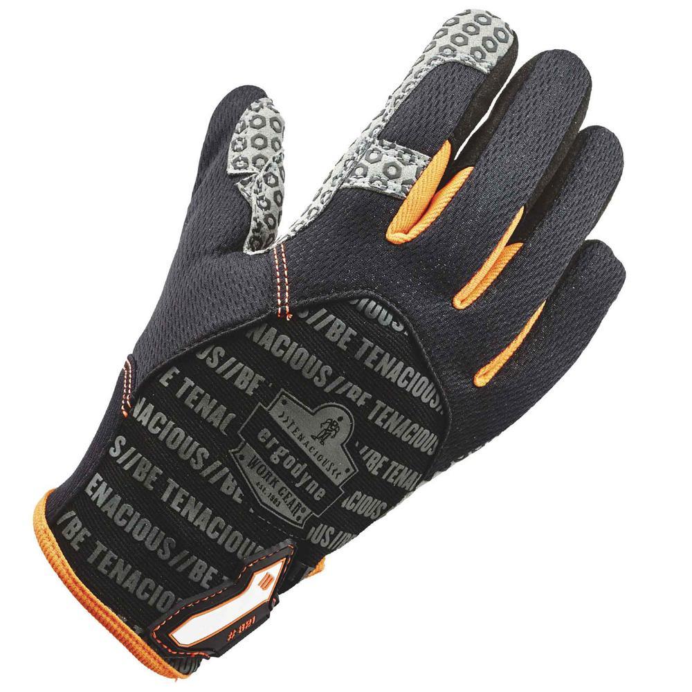 Ergodyne Ergodyne Large Black Smooth Surface Handling Gloves, Adult Unisex
