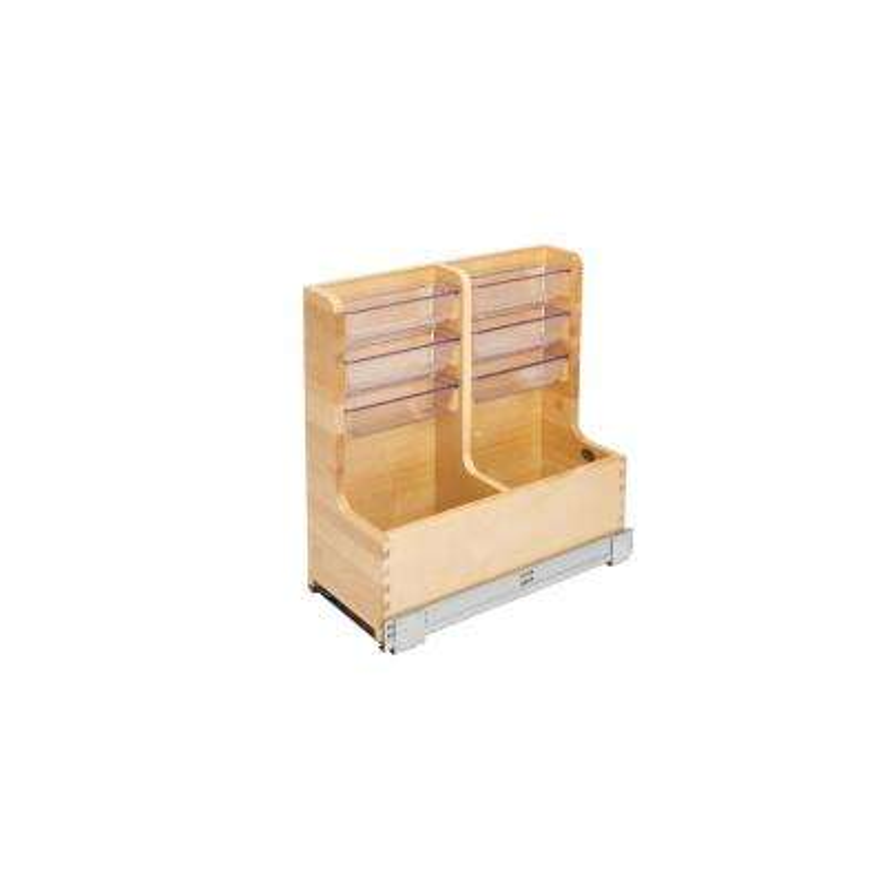 8.75 in. W x 18.75 in. D x 18.88 in. H Wood Vanity Sink Base Storage Organizer