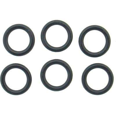 7/16 in. O.D. x 5/16 in. I.D. #206 Rubber O-Ring (6-Pack)