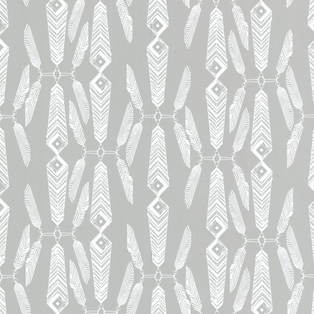 Lainey Grey Feather Wallpaper