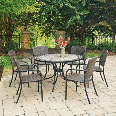 Cottage 7 Piece Marble Outdoor Dining Set