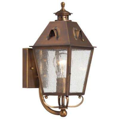 Edenshire 1-Light English Brass Outdoor Wall Mount