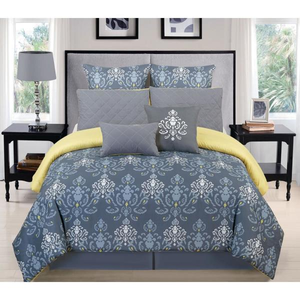 Duck River Lucienda Queen 3 Piece Duvet Set in Grey-Green LUD1G=6