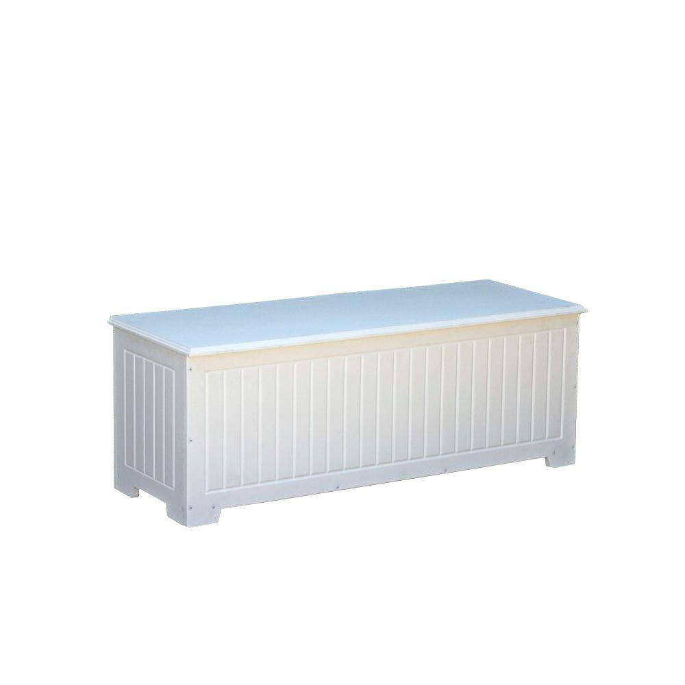 Sydney 36.75 Gal. White Recycled Plastic Commercial Grade Deck Box