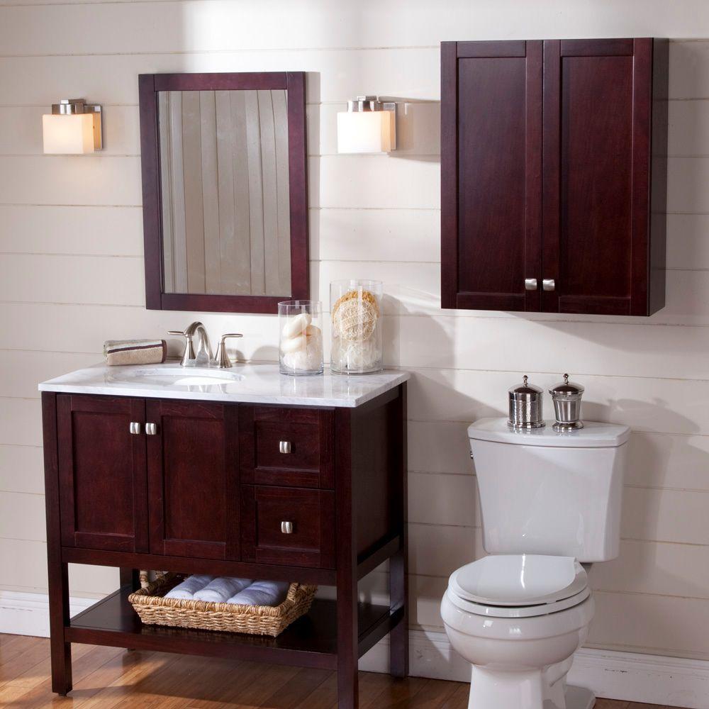Bathroom Vanity In Dark Cherry