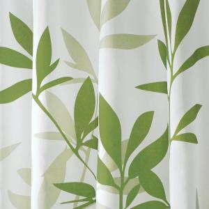 InterDesign Shower Curtain In White With Green Leaves 35630