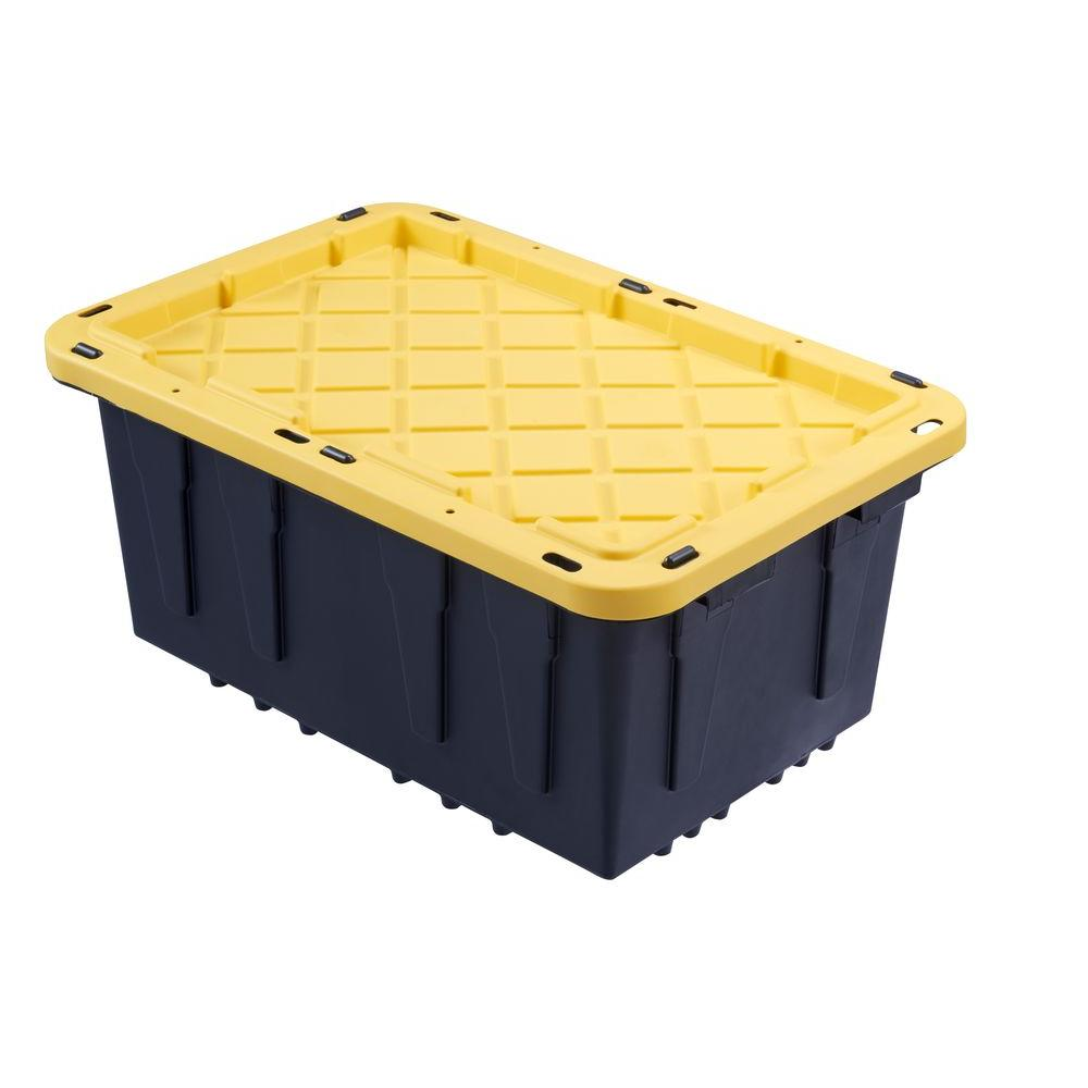Hdx 12 Gal Flat Lid Tough Tote 206100 The Home Depot