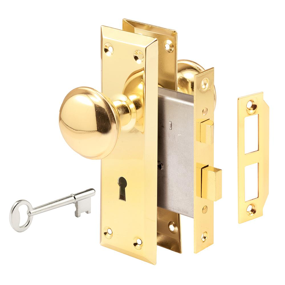 Prime line steel brass plated finish mortise keyed lock - Interior door privacy mortise lock ...