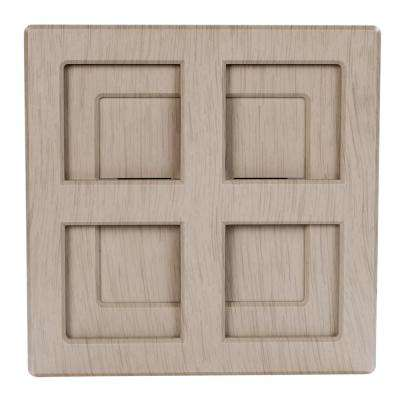 Wireless or Wired Door Bell in Light Gray Wood