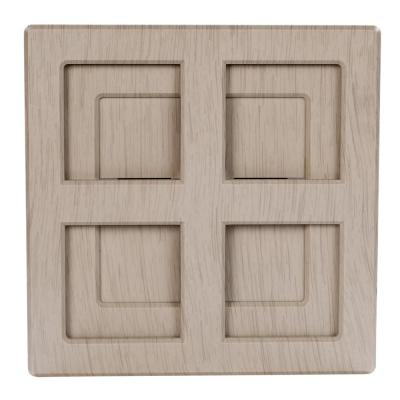 Wireless or Wired Door Bell in Light Gray Wood Look Finish