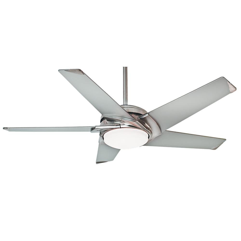 Casablanca stealth 54 in indoor brushed nickel ceiling fan with casablanca stealth 54 in indoor brushed nickel ceiling fan with light kit and universal wall mozeypictures Image collections