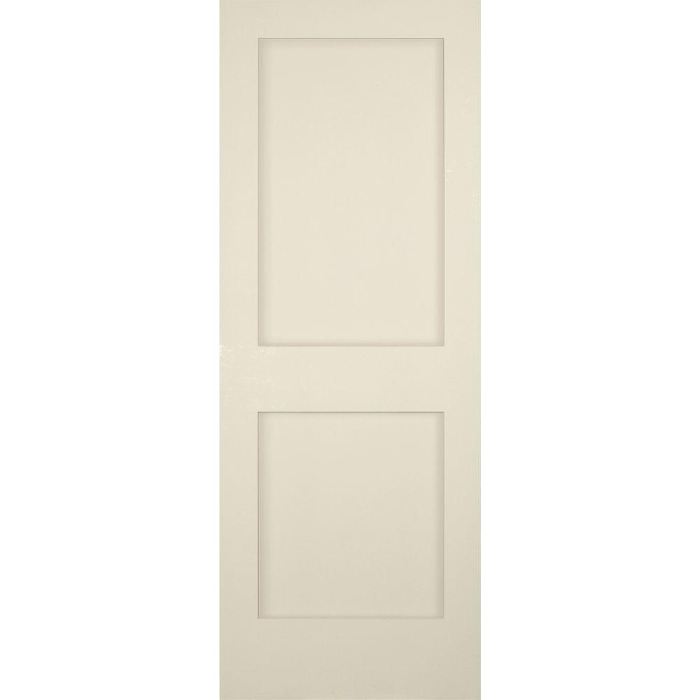 Builders Choice 30 In X 80 In 2 Panel Shaker Solid Core Primed Pine Single Prehung Interior