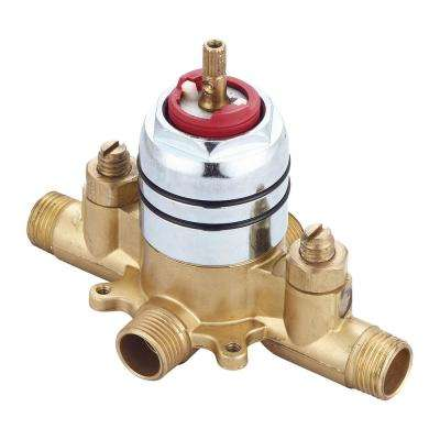 1/2 in. Pressure Balance Rough Valve with Combo CXC and IPS Inlet and Outlet Connections