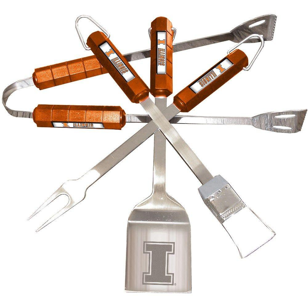 NCAA Illinois Fighting Illini 4-Piece Grill Tool Set