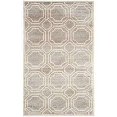 Amherst Light Gray/Ivory 10 Ft. X 14 Ft. Indoor/Outdoor Area