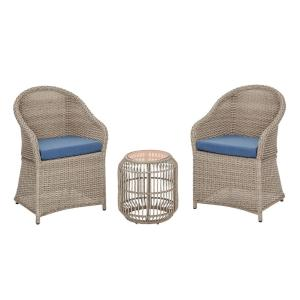 Hampton Bay Florence 3-Piece Wicker Outdoor Bistro Set Deals