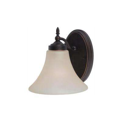 Montreal 1-Light Burnt Sienna Bath Light with LED Bulb